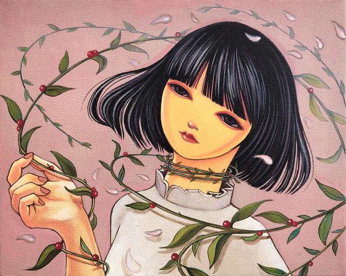 「風使い」アクリル/キャンバス 2020年