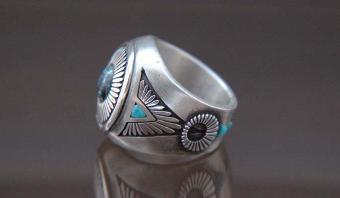 Sunburst Ring ,ターコイズリング