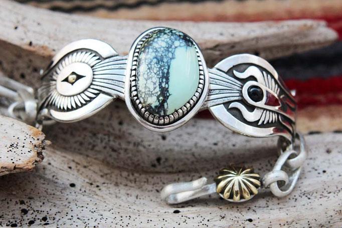 Apache turquoise,シルバーブレスレット,ターコイズブレスレット