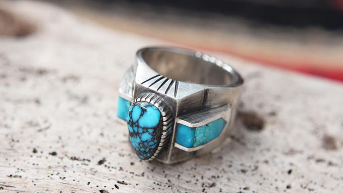 Apache Blue Turquoise Ring,ターコイズリング