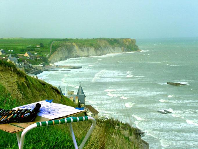 Zeichnen in der Normandie