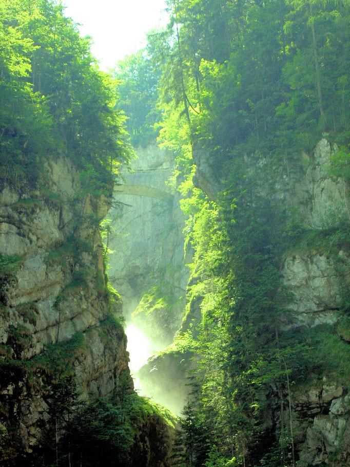 Über diese imposante Schlucht führt eine steinerne Brücke
