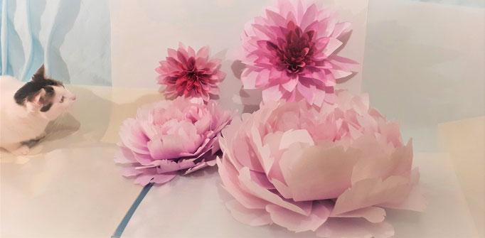 Fleurs artificielles teintées