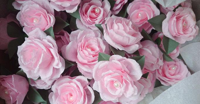 Atelier création Maria'S tête de roses en papier perles