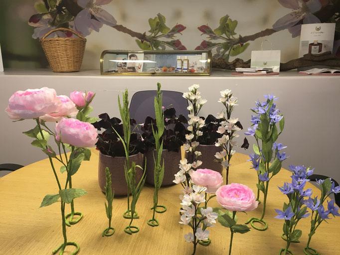 Décoration scénographie -rose design papier