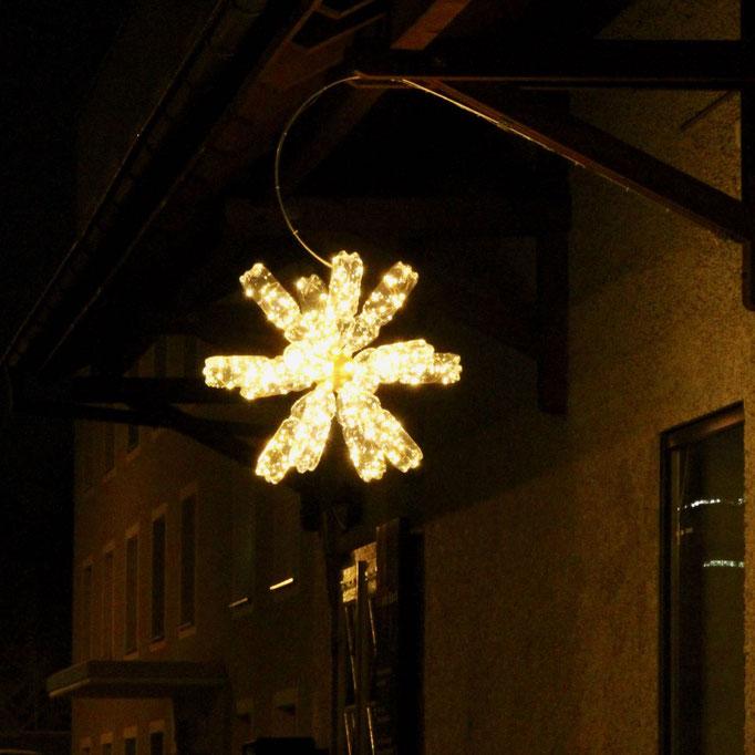 Weihnachtliche Impressionen aus Unterwetzikon, mit Weihnachtsstern.