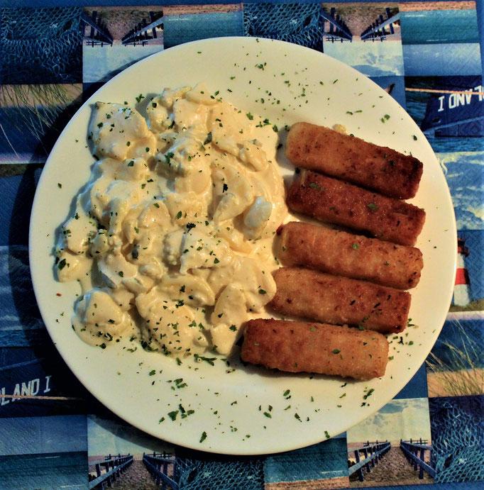 27.11.2019 Backfischstäbchen mit Kartoffelsalat