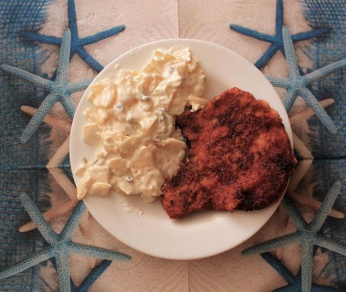 09.09.2019 Kotelette gebraten vom Schwein mit Kartoffelsalat