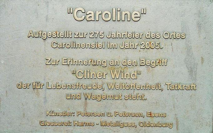 """""""Caroline"""" das Wahrzeichen von Carolinensiel"""