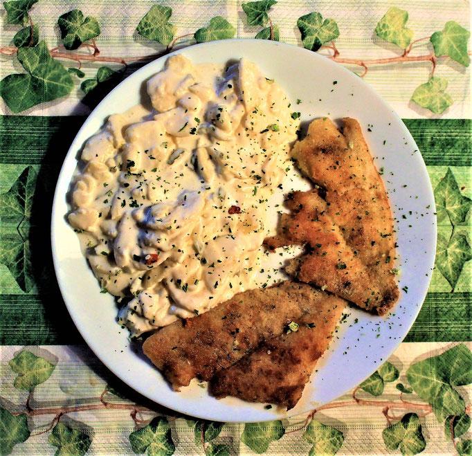 28.01.2020 Schollenfilet mit Kartoffelsalat