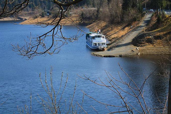 Weißwasserbrücke Okertalsperre Linienschiff