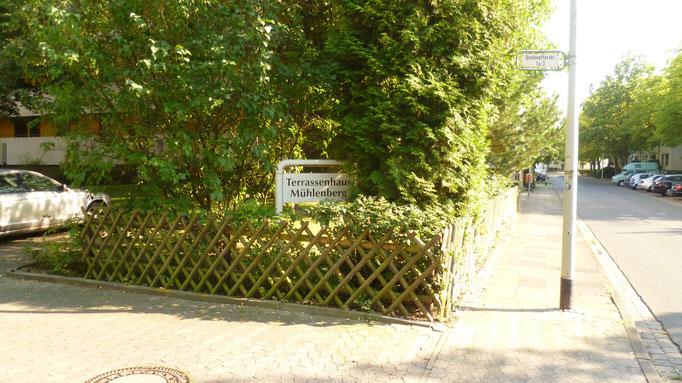 Einfahrt Bonhoefferstr.