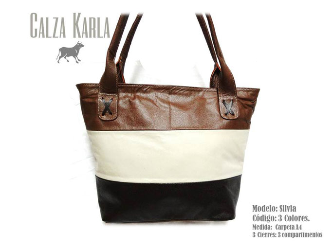 bolso de cuero negro blanco y beige