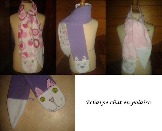 Echarpe originale chat pour enfant - Nathalie Navarro Créations
