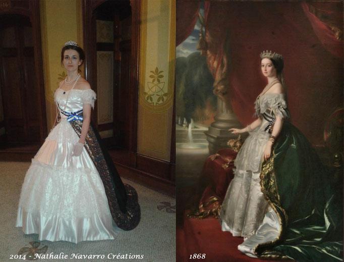 Robe de l'Impératrice Eugénie - Fêtes de Napoléon III avril 2014 à Vichy - Nathalie Navarro Créations