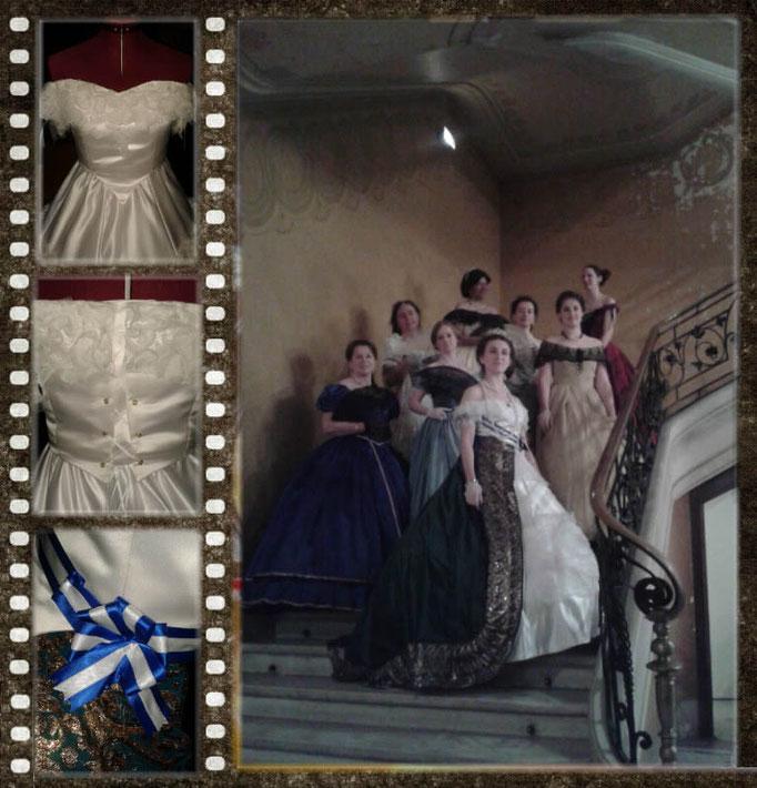 Robe de l'Impératrice Eugénie et ses dames de cours - Fêtes de Napoléon III avril 2014 à Vichy - Nathalie Navarro Créations