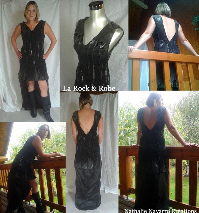 La Rock & Robe - Transformation d'une veste en robe - Nathalie Navarro Créations
