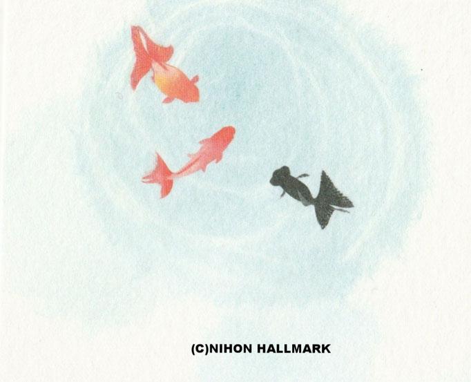 暑中ポスト貼り絵金魚より(C)NIHONHAlLMARK