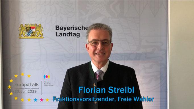 Florian Streibl, Fraktionsvorsitzender im Bayerischen Landtag, Freie Wähler