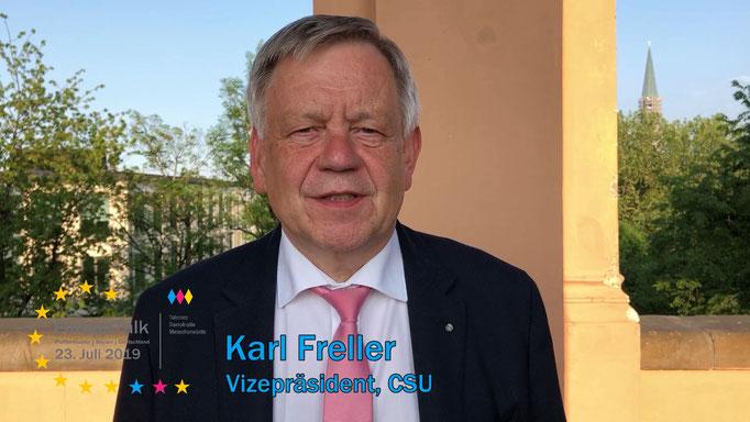 Karl Freller, Vizepräsident des Bayerischen Landtags, CSU
