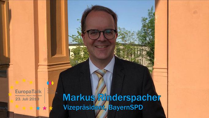 Markus Rinderspacher, Vizepräsident des Bayerischen Landtags, BayernSPD