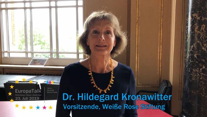 Dr. Hildegard Kronawitter, Vorsitzende Weiße Rose Stiftung