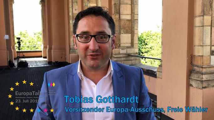 Tobias Gotthardt, Vorsitzender des Europa-Ausschusses im Bayerischen Landtag, Freie Wähler