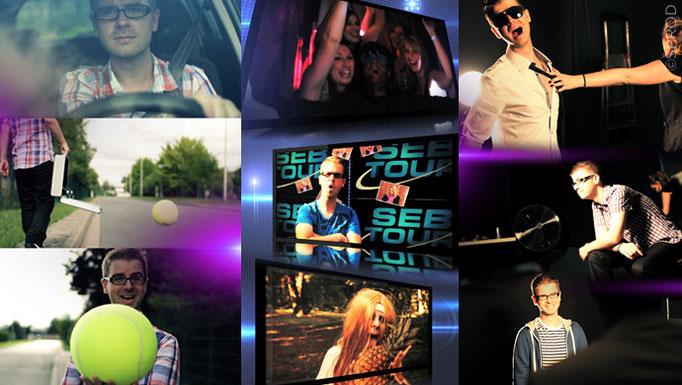 Tournages de teaser et de bandes annonces, de parodies de clips, shooting photo et making of, et recherche de lieux
