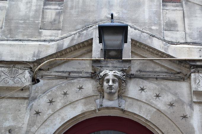 Passage du Désir, détail de façade, Partie Est