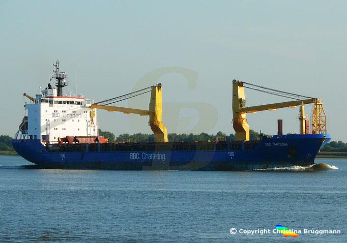 Schwergutfrachter BBC ARIZONA, Elbe 05.09.2018, Bild 4