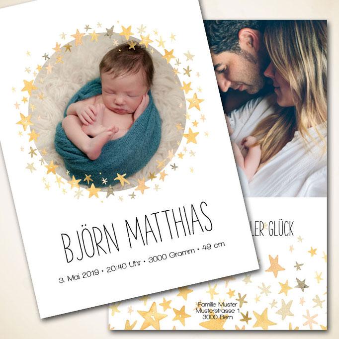 Babykarte fü Bub