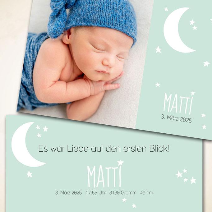 Babykarte schöne Träume