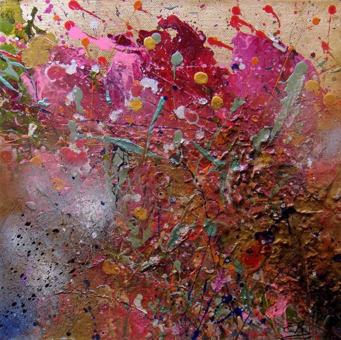 κώδικας №Α146,  (30 x 30cμ)  ακρυλικά χρώματα σε καμβά με κρύσταλλα Σβαρόβσκι-μη διαθέσιμο-SOLD