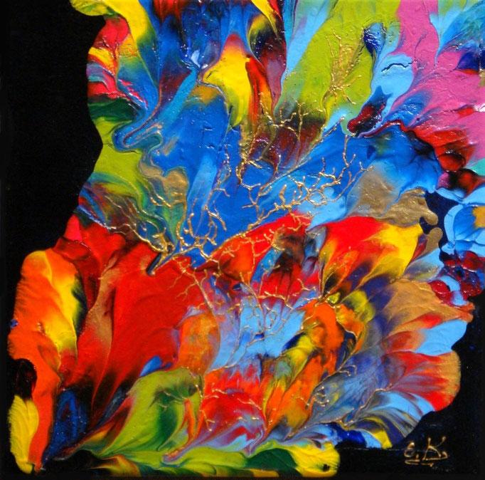 κώδικας №Α130, (30 x 30cm) ακρυλικά χρώματα σε καμβά