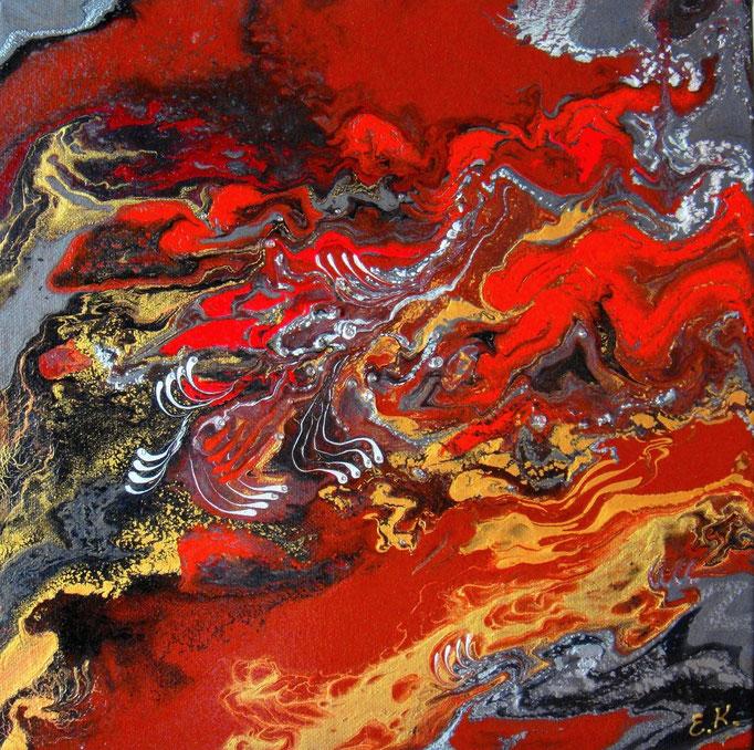 κώδικας №Α128, (30 x 30cm) ακρυλικά χρώματα σε καμβά