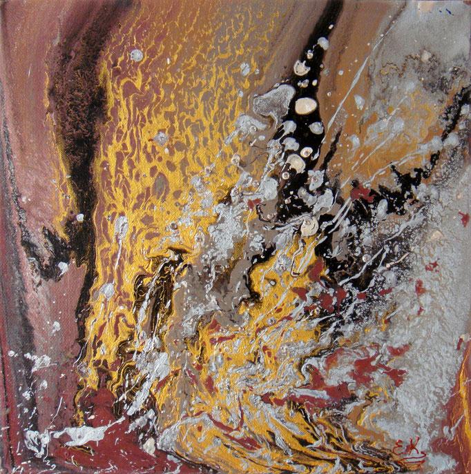 κώδικας №Α129, (30 x 30cm) ακρυλικά χρώματα σε καμβά με κρύσταλλα Σβαρόβσκι