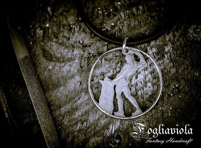 Vulcano men pendant