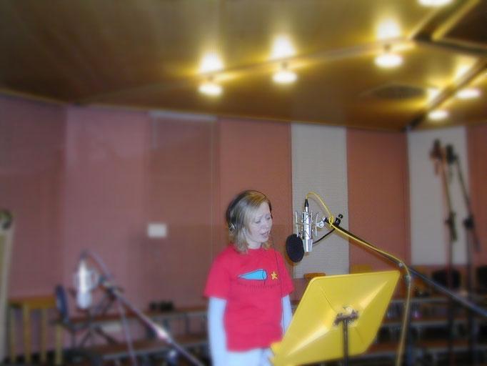 Im Tonstudio zur Albumaufnahme mit den sternfaengern 1999