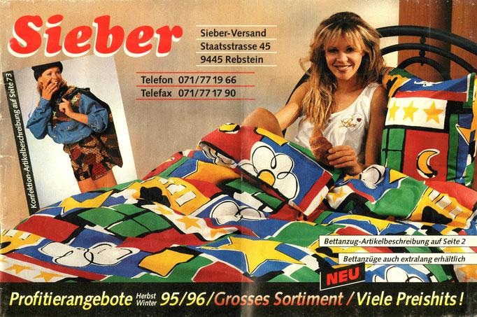 Nostalgische Sieber Versand Katalogserie aus dem Jahre 1995/96