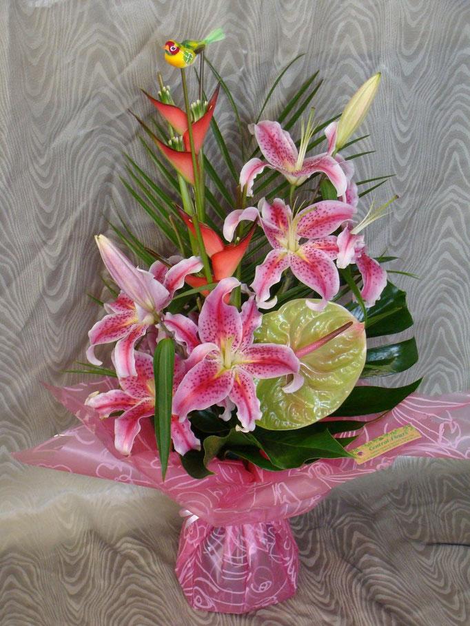 Le bouquet élancé en poche d'eau N°1