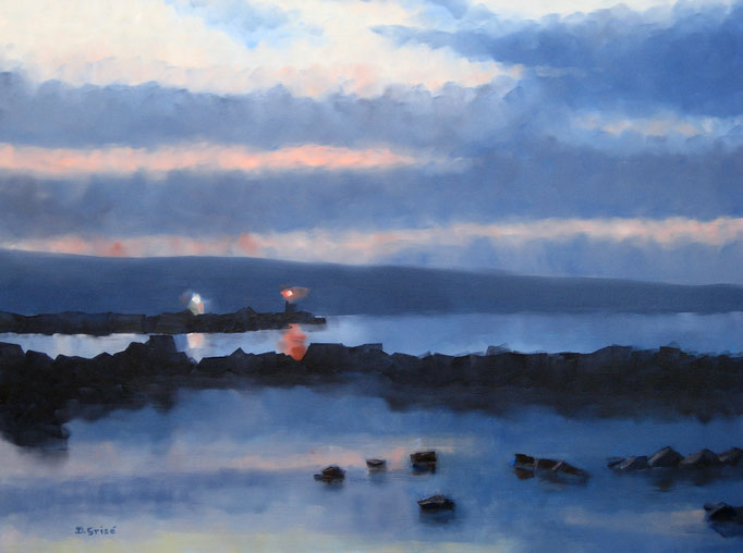 Lighthouse At Meaford   40x30 oil on gallery canvas    $2400.00 CAD no frame needed. This Painting is on location at the Midhurst Family Eyecare Clinic. Please contact me re purchase.