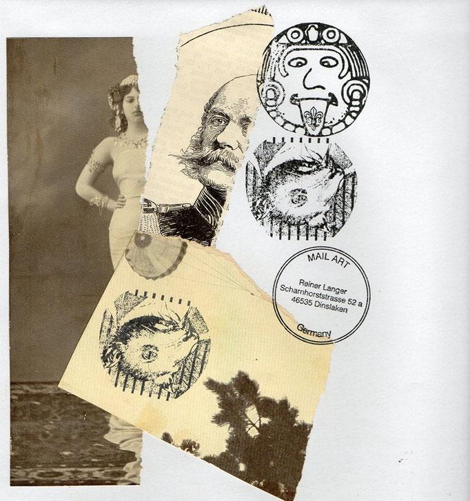 """Ausgehende MAIL -ART Projekt AGAINST """" WAR """" by Reiner Langer   an TICTAC , DEUTSCHLAND"""