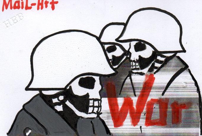 """EINGEHENDE MAIL - ART PROJEKT """" WAR """" by Reiner Langer   HEIKE SACKMANN"""