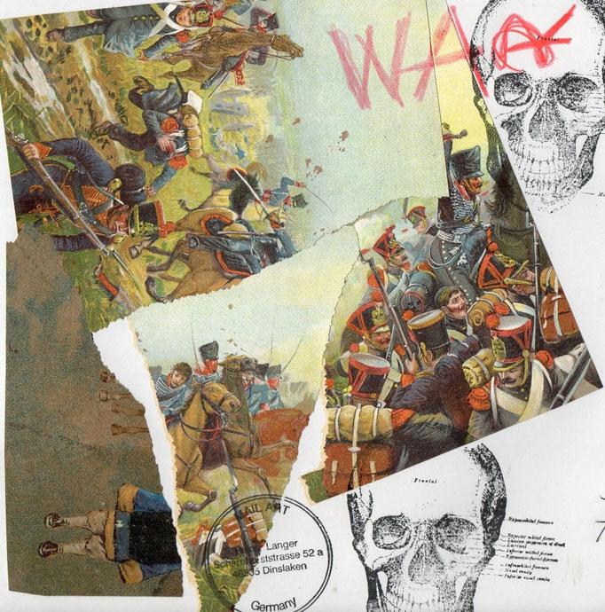 """AUSGEHENDE MAIL - ART PROJEKT """" WAR """" by Reiner Langer  to/ an HEIKE SACKMANN"""