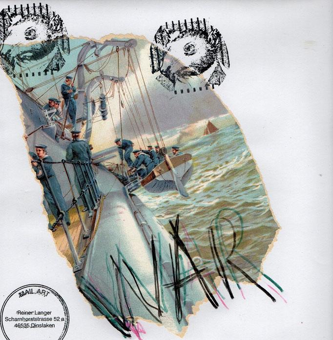 """Ausgehende MAIL - ART Projekt """" WAR """" by Reiner Langer   an DADANAUTIK No. 1 , DEUTSCHLAND"""