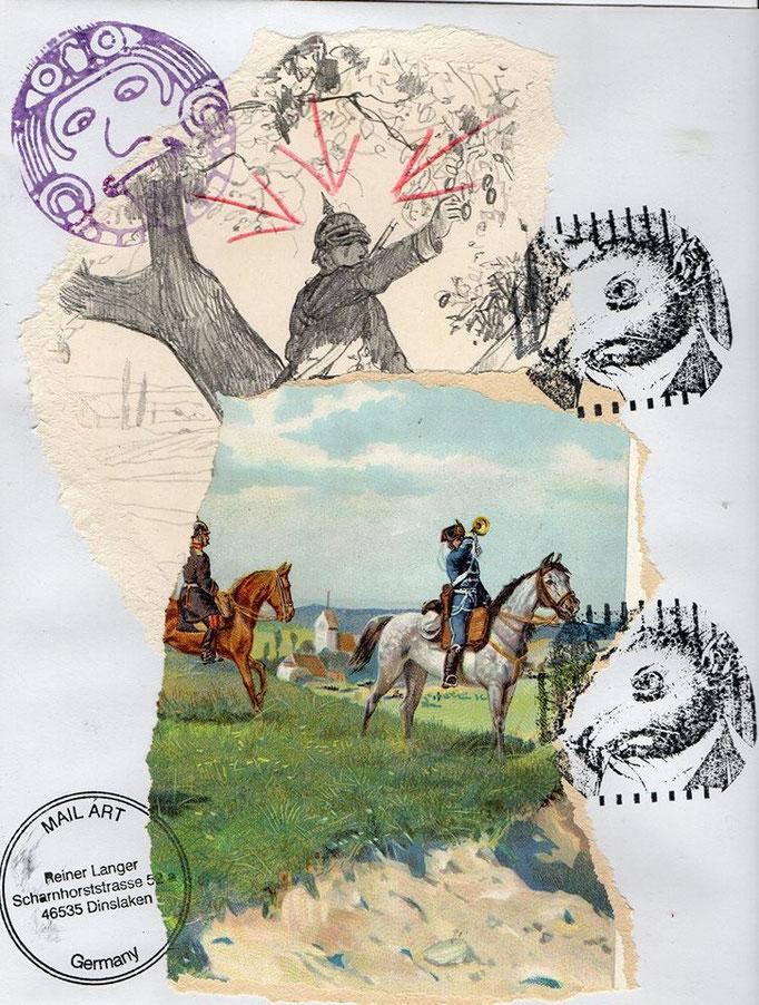 Ausgehende MAIL - ART an SIMON WARREN , ENGLAND / UK