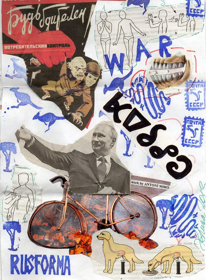 "Eingehende MAIL -ART Projekt AGAINST "" WAR "" by Reiner Langer   von "" Russforma "" , Russland"