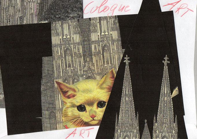 MAIL ART Mona Schwenker ( Rückseite)