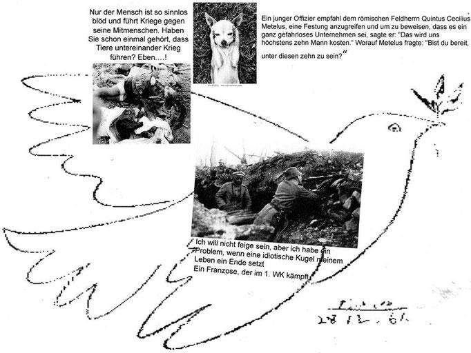 """Eingehende MAIL - ART Projekt AGAINST """" WAR """"   von Barbara Latka , DEUTSCHLAND"""