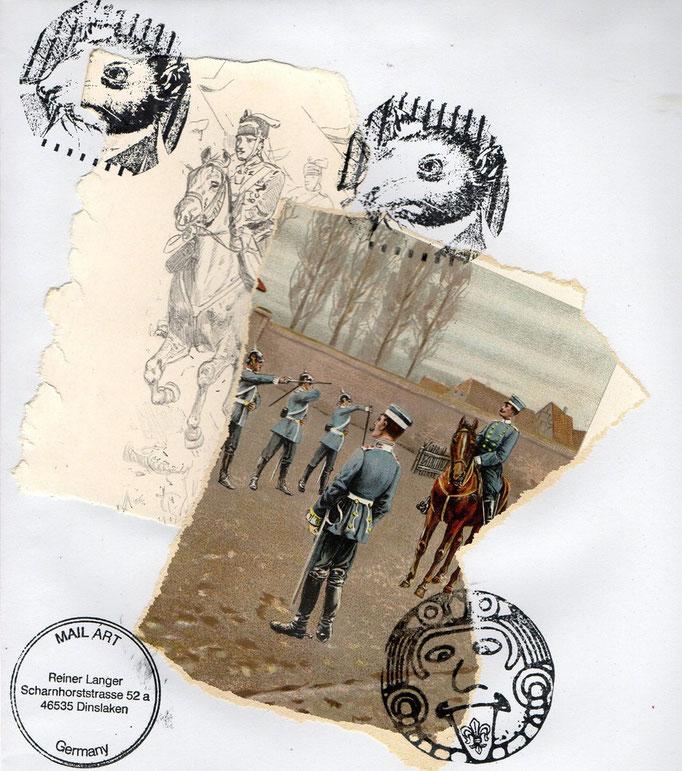 "Ausgehende MAIL - ART Projekt "" WAR "" by Reiner Langer   an Rüdiger A.D.Westphal , DEUTSCHLAND"